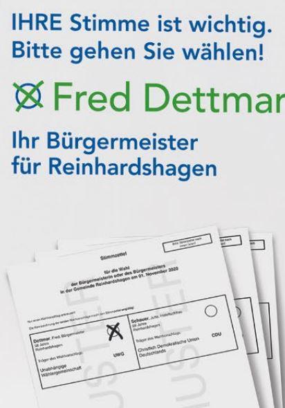 Ihre Stimme für Fred Dettmar am 01.11.2020